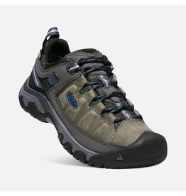 KEEN MEN'S TARGHEE III WATERPROOF-STEEL GREY/CAPTAIN'S BLUE