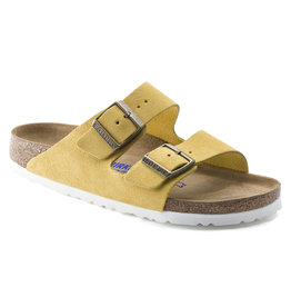 BIRKENSTOCK ARIZONA SOFT FOOTBED SUEDE LEATHER-OCHRE
