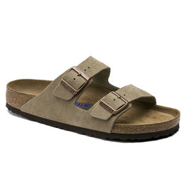 BIRKENSTOCK ARIZONA SOFT FOOTBED SUEDE LEATHER-TAUPE SUEDE