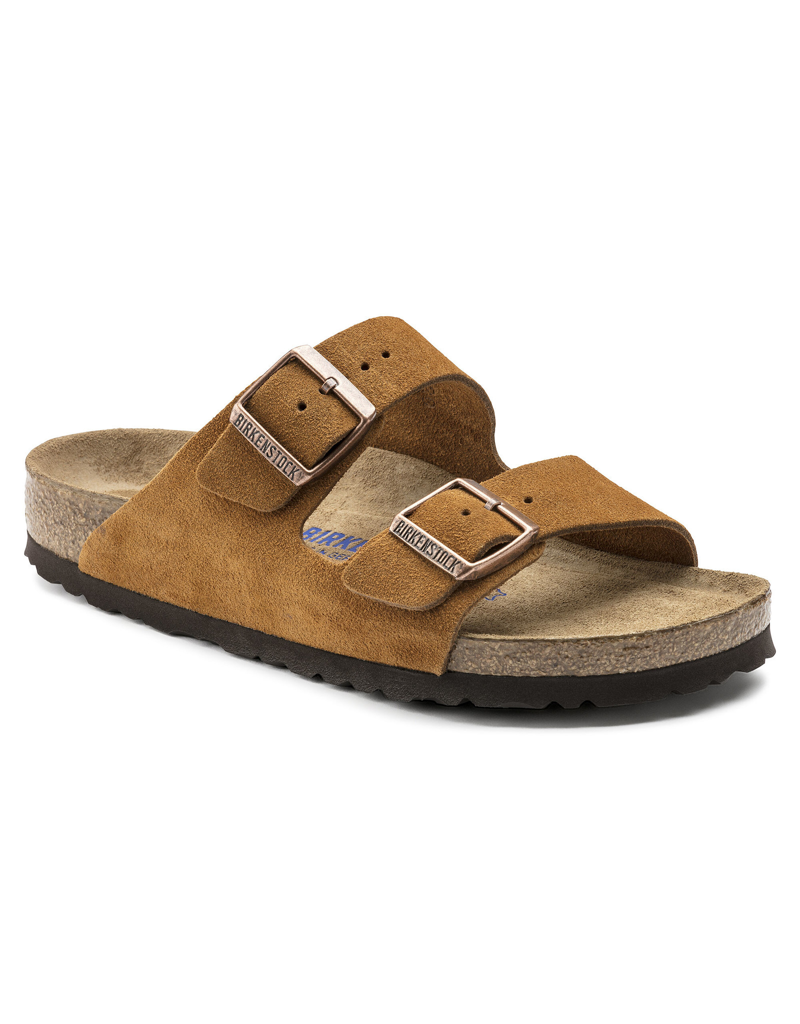 BIRKENSTOCK ARIZONA SOFT FOOTBED SUEDE LEATHER-MINK SUEDE