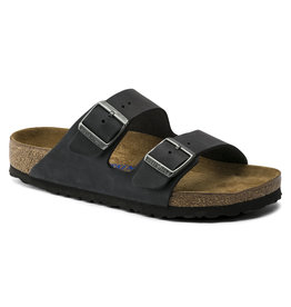BIRKENSTOCK ARIZONA SOFT FOOTBED OILED LEATHER-BLACK