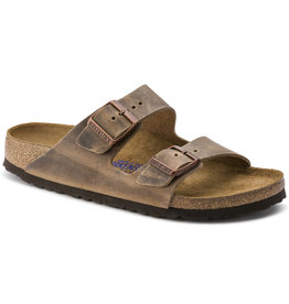 BIRKENSTOCK ARIZONA SOFT FOOTBED OILED LEATHER-TOBACCO