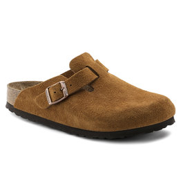 BIRKENSTOCK BOSTON SOFT FOOTBED SUEDE LEATHER-MINK