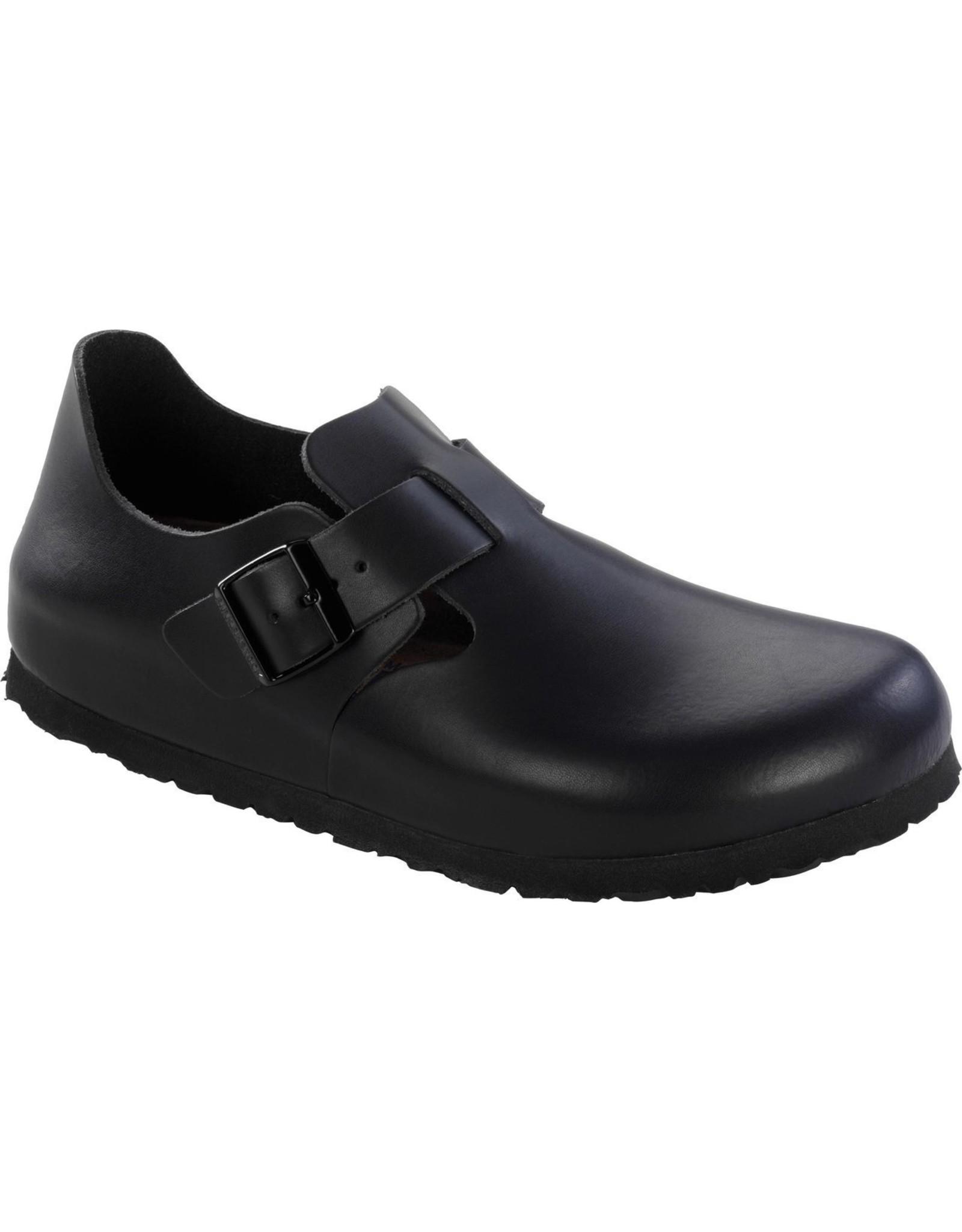 BIRKENSTOCK LONDON SOFT FOOTBED-HUNTER BLACK