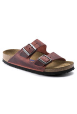 BIRKENSTOCK ARIZONA SOFT FOOTBED OILED LEATHER EARTH RED