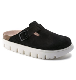 BIRKENSTOCK BOSTON CHUNKY SUEDE BLACK