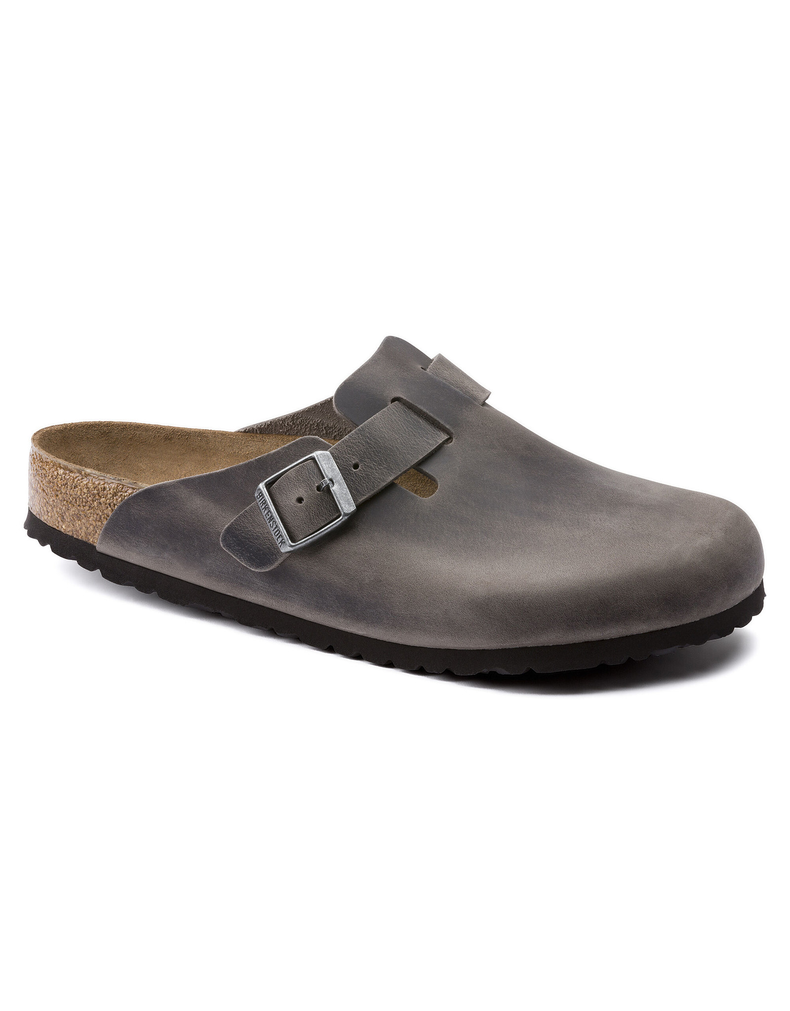 BIRKENSTOCK BOSTON SOFT FOOTBED OILED LEATHER-IRON