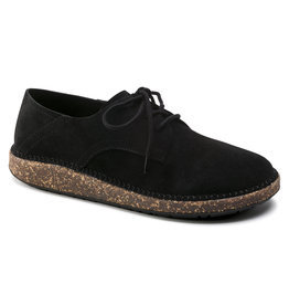 BIRKENSTOCK GARY SUEDE LEATHER-BLACK