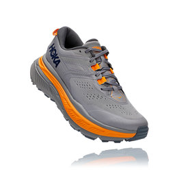 HOKA ONE ONE MEN'S STINSON ATR 6-FROST GRAY / BRIGHT MARIGOLD