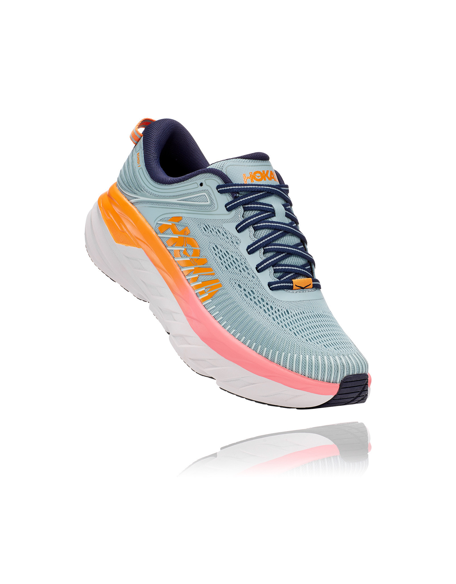 HOKA ONE ONE WOMEN'S BONDI 7-BLUE HAZE / BLACK IRIS