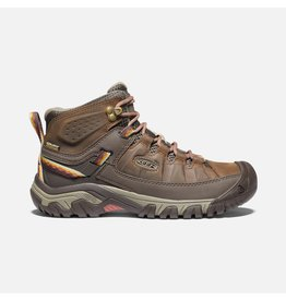 KEEN WOMEN'S TARGHEE III MID WATERPROOF BOOT-BUNGEE CORD/REDWOOD
