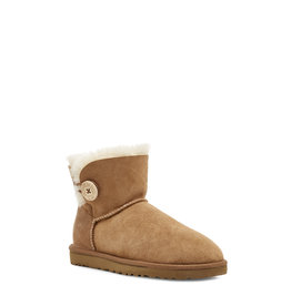 UGG WOMEN'S MINI BAILEY BUTTON II-CHESTNUT