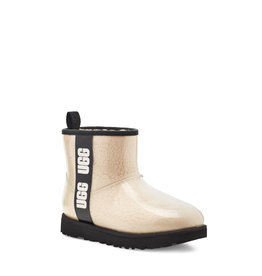 UGG WOMEN'S CLASSIC CLEAR MINI BOOT-NATURAL / BLACK