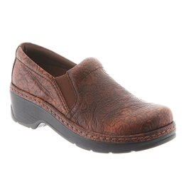 KLOGS WOMEN'S NAPLES-BROWN FLORAL