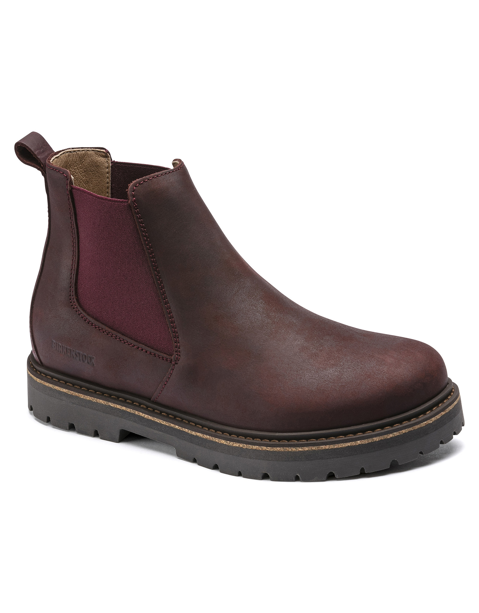 BIRKENSTOCK STALON NUBUCK LEATHER-BURGUNDY