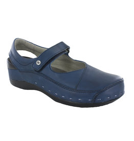 WOLKY WOMEN'S STRAP CLOGGY-BLUE VEGI LEATHER