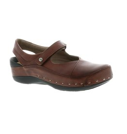 WOLKY WOMEN'S STRAP CLOGGY-COGNAC VEGI LEATHER