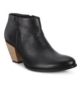 ECCO WOMEN'S SHAPE 55 WESTERN ANKLE BOOT-BLACK