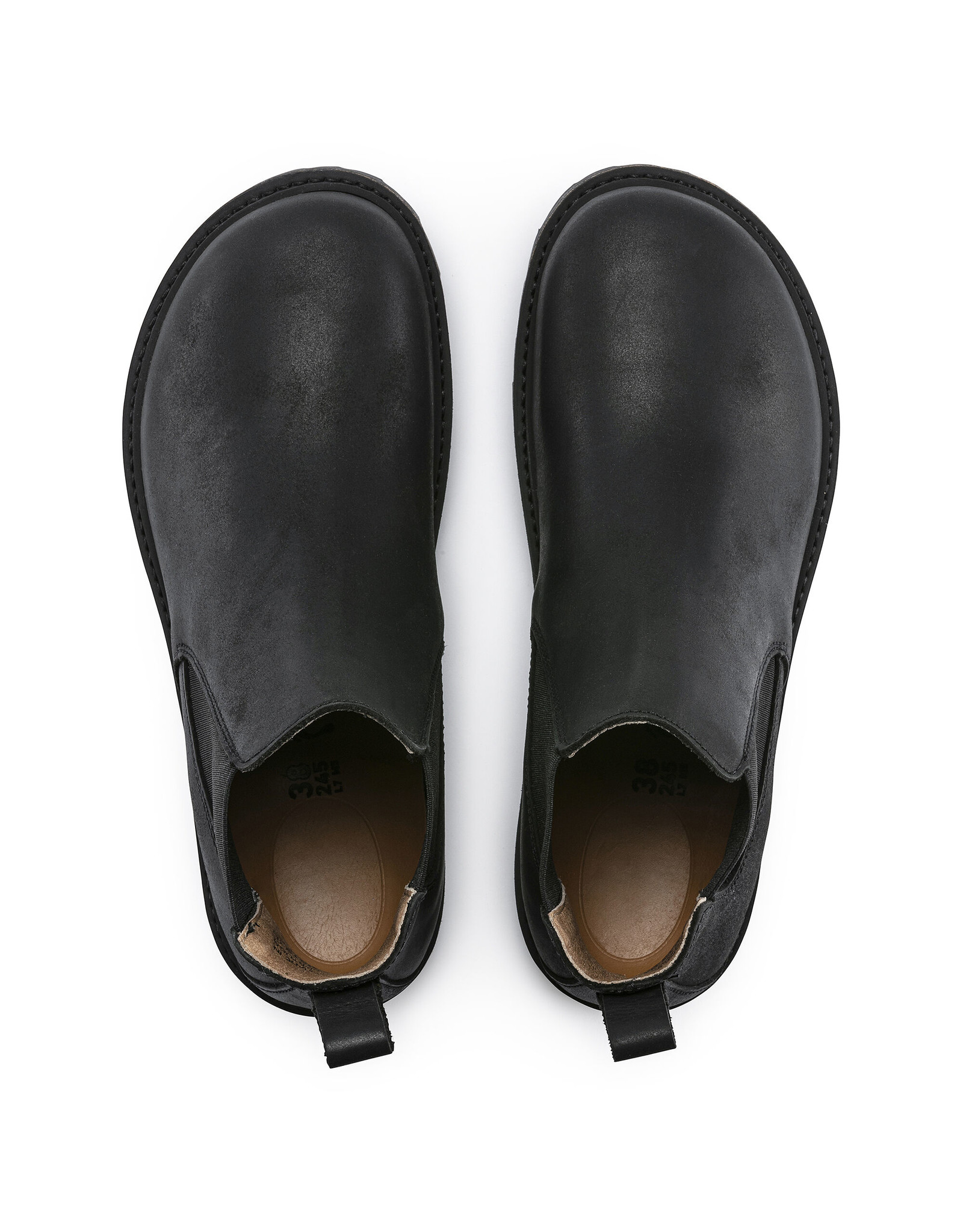 BIRKENSTOCK STALON NUBUCK LEATHER-BLACK