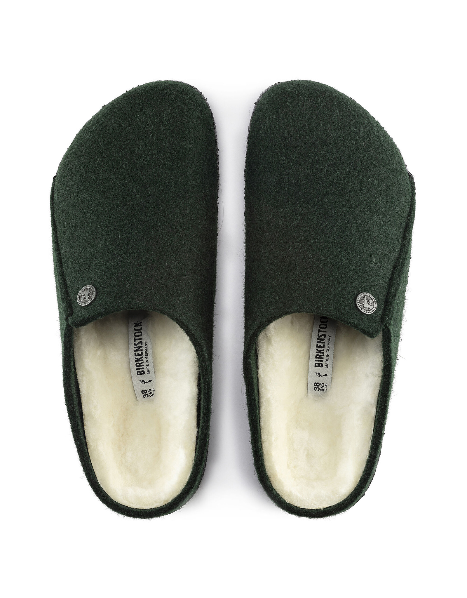 BIRKENSTOCK ZERMATT WOOL FELT SLIPPER-FOREST GREEN
