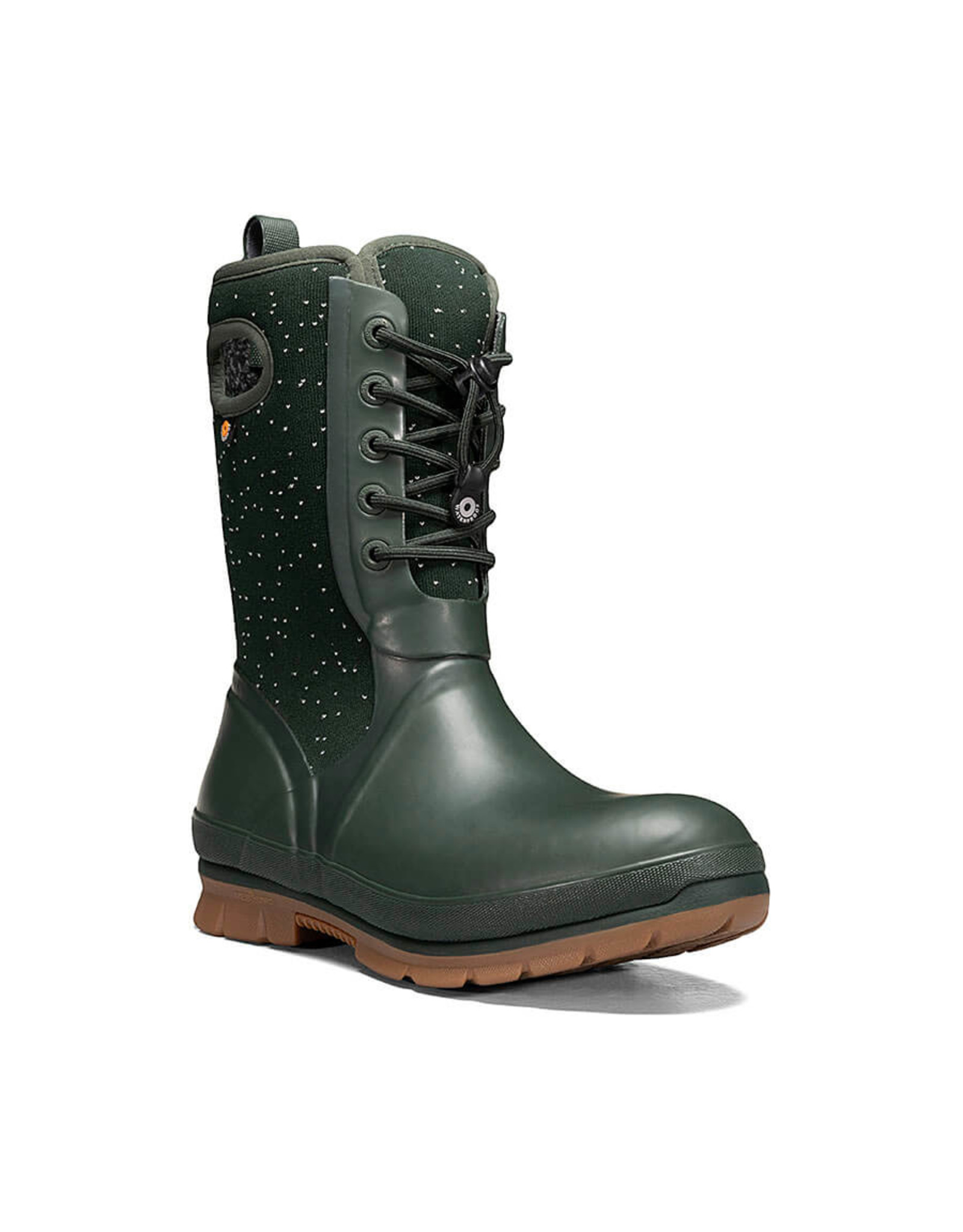 BOGS WOMEN'S CRANDALL LACE SPECKLE BOOT-DARK GREEN