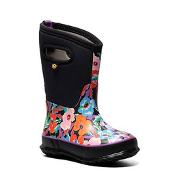 BOGS KIDS' CLASSIC WATER PANSIES BOOT-BLACK MULTI