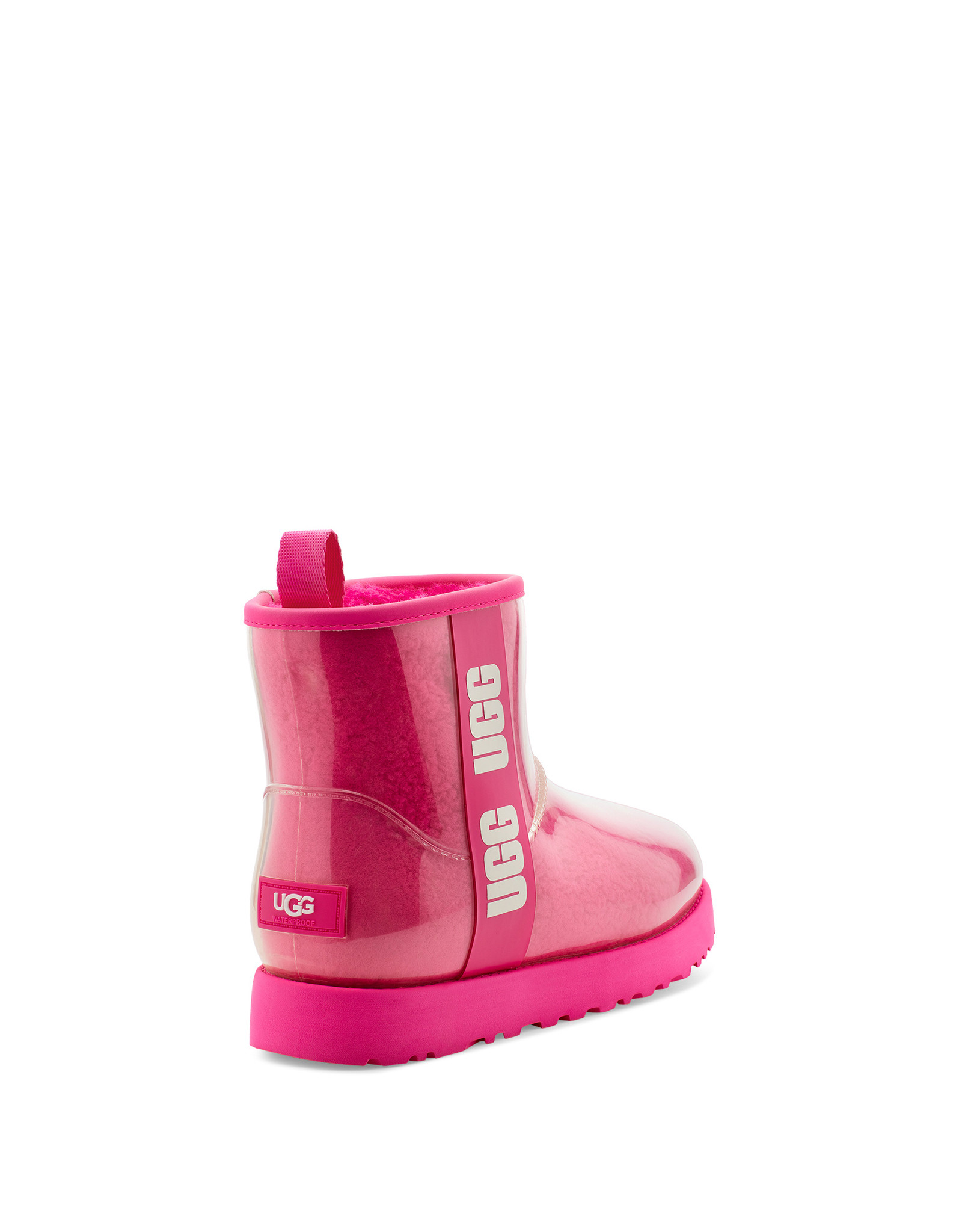 UGG WOMEN'S CLASSIC CLEAR MINI BOOT-ROCK ROSE