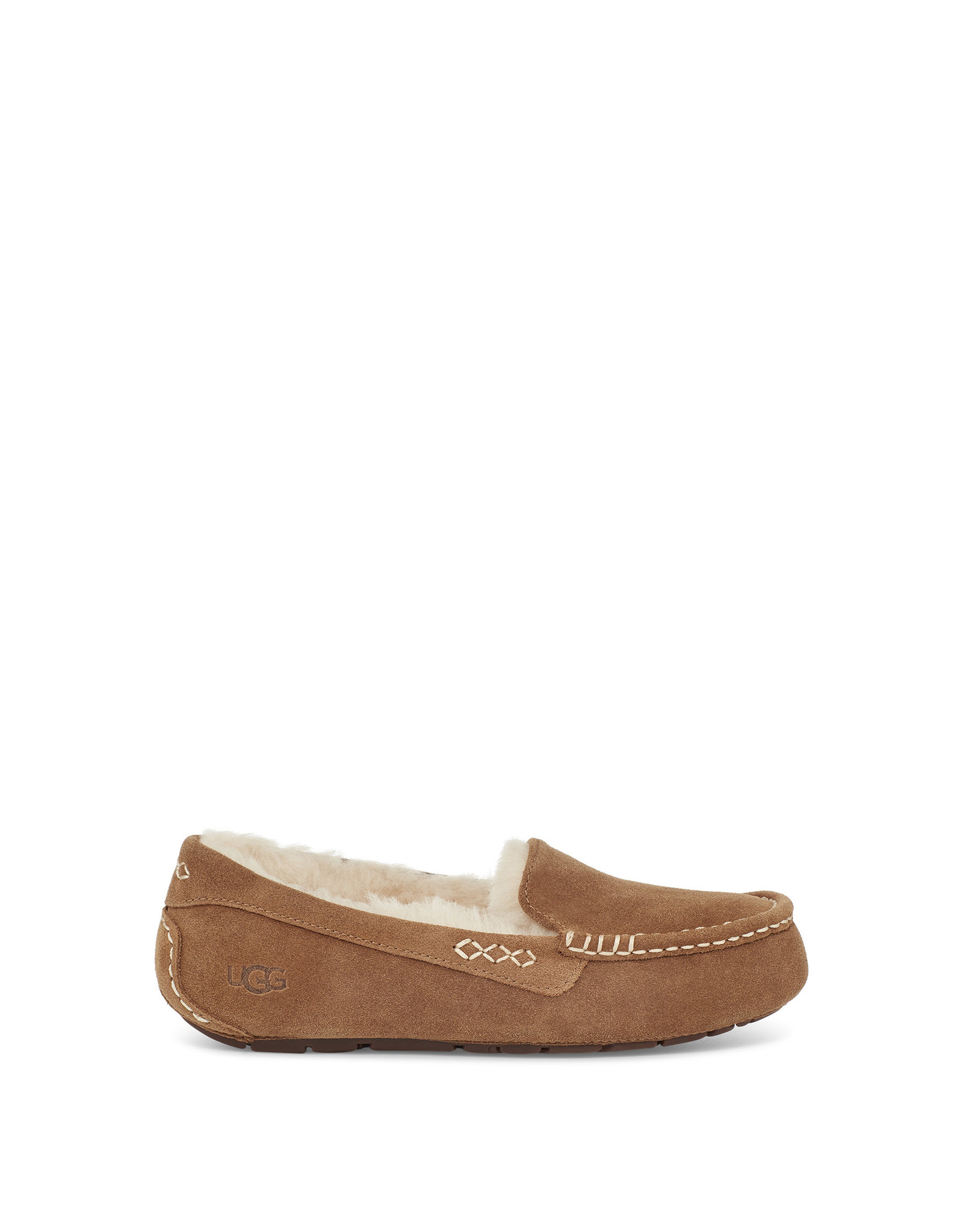 UGG WOMEN'S ANSLEY SLIPPER-CHESTNUT