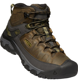KEEN MEN'S TARGHEE III WATERPROOF MID BOOT-DARK OLIVE/BLACK