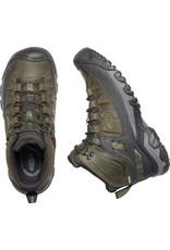 KEEN MEN'S TARGHEE III WATERPROOF MID BOOT-DARK OLIVE/BLACK