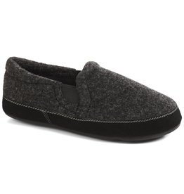ACORN MEN'S FAVE GORE SLIPPERS-BLACK TWEED