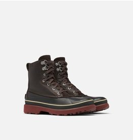 SOREL MEN'S CARIBOU STORM WATERPROOF BOOT-BLACKENED BROWN