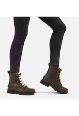SOREL WOMEN'S LENNOX LACE COZY BOOT-BLACKENED BROWN