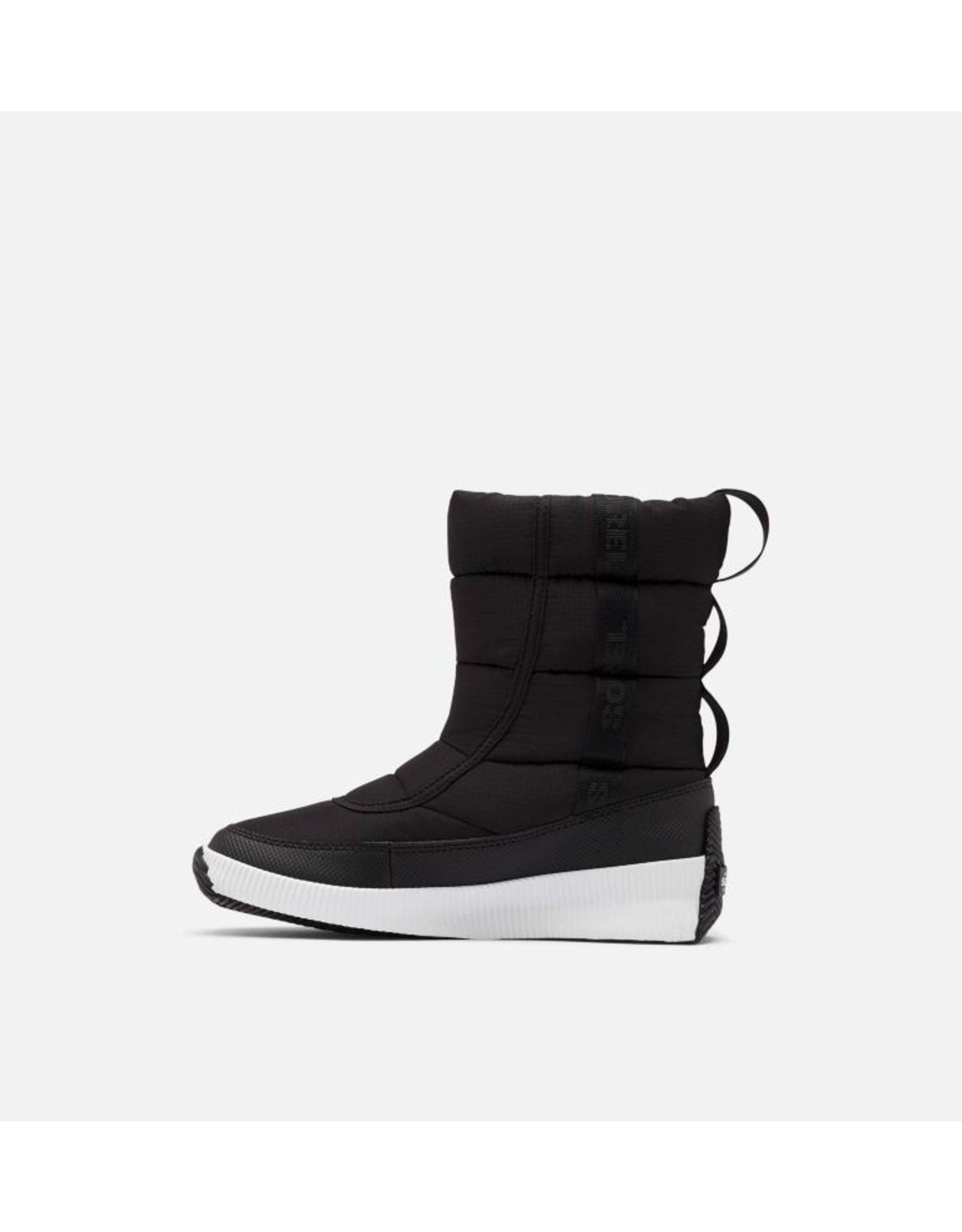 SOREL WOMEN'S OUT N ABOUT PUFFY MID BOOT-BLACK