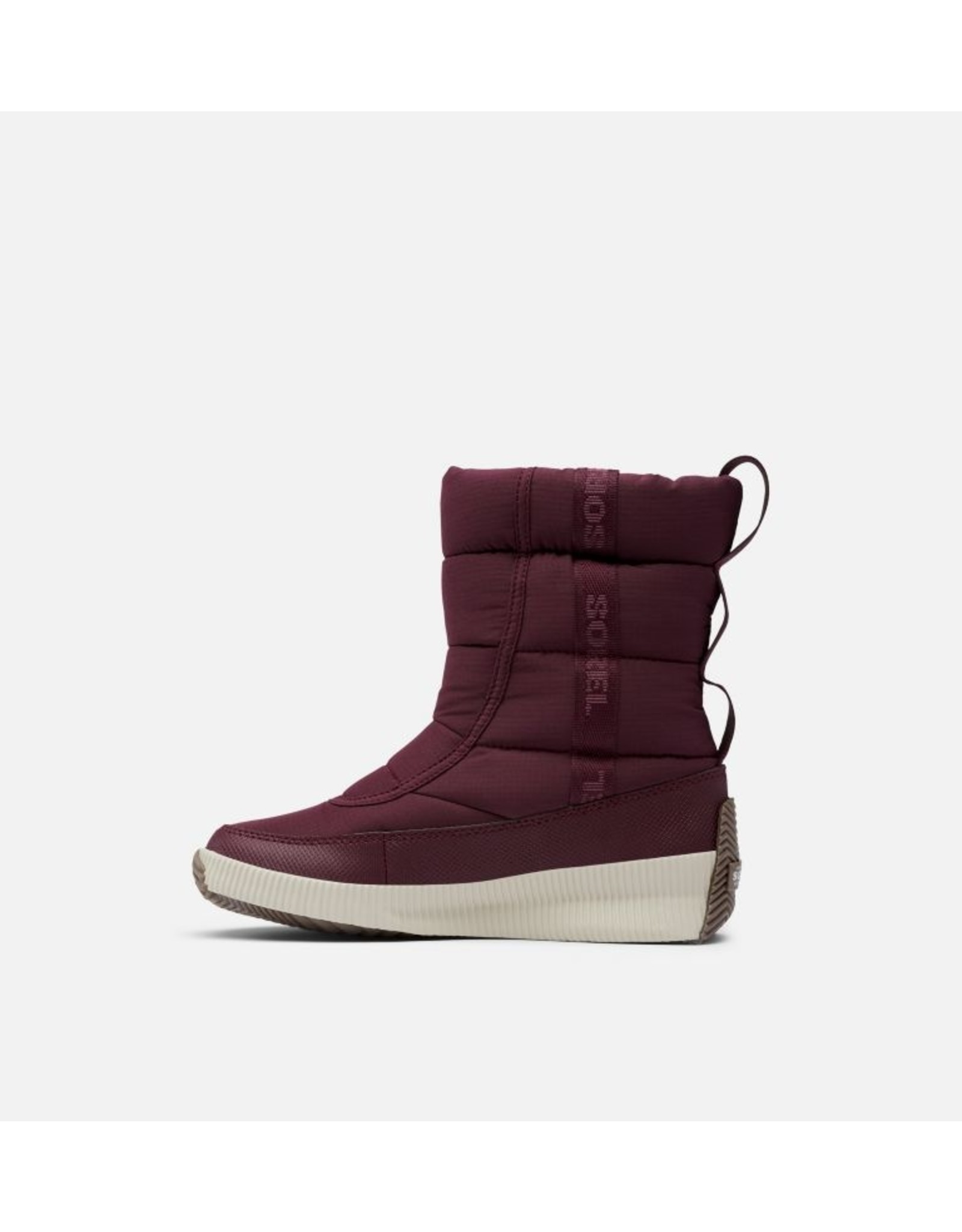 SOREL WOMEN'S OUT N ABOUT PUFFY MID BOOT-EPIC PLUM