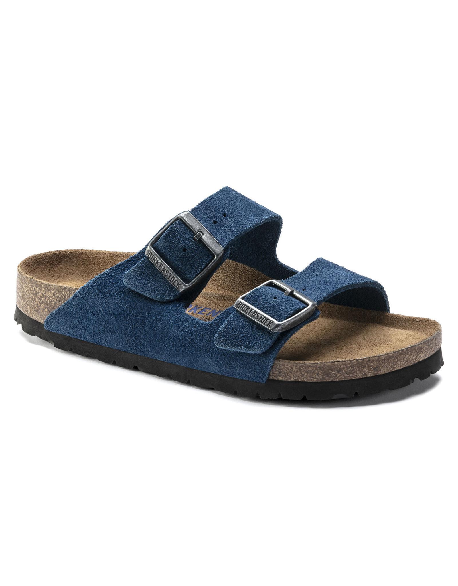 BIRKENSTOCK ARIZONA SOFT FOOTBED SUEDE LEATHER-MOROCCAN BLUE