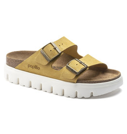BIRKENSTOCK ARIZONA PLATFORM SUEDE LEATHER-OCHRE