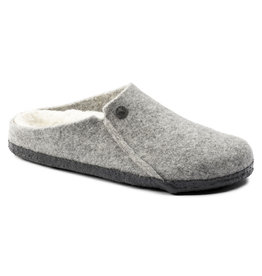 BIRKENSTOCK ZERMATT WOOL FELT SLIPPER-LIGHT GRAY