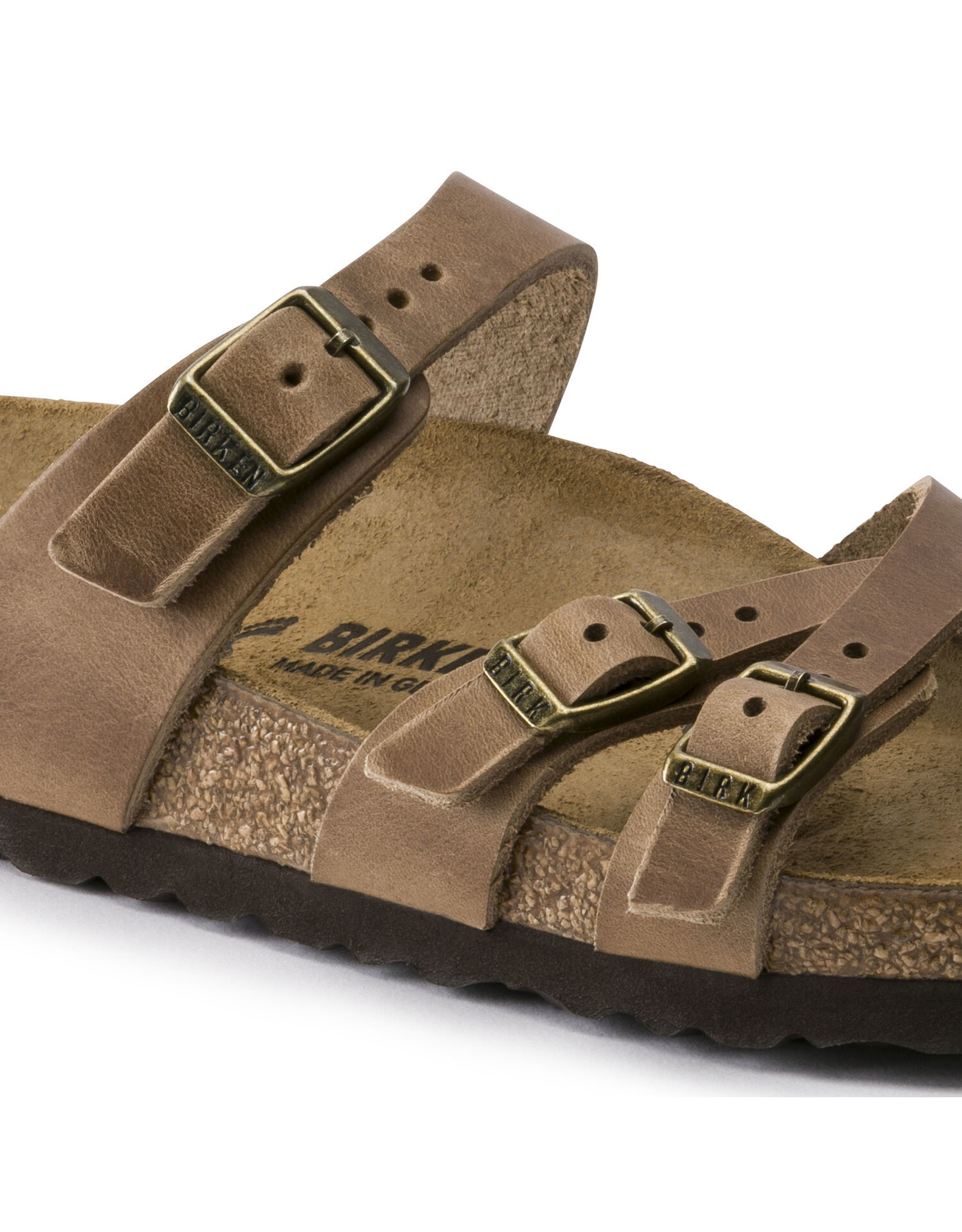 BIRKENSTOCK FRANCA OILED LEATHER-TOBACCO BROWN
