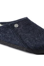 BIRKENSTOCK ZERMATT WOOL FELT SLIPPER-DARK BLUE