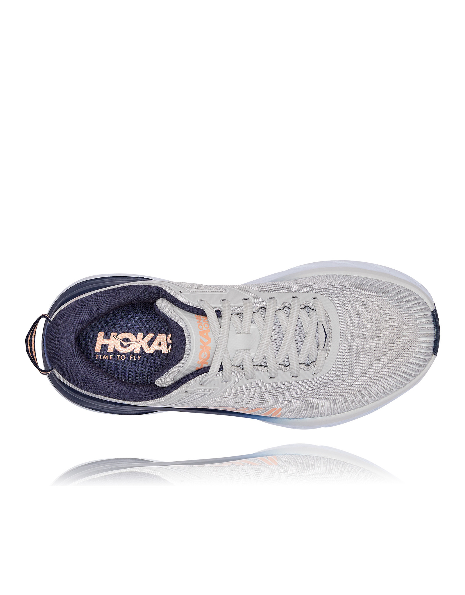 HOKA ONE ONE WOMEN'S BONDI 7-LUNAR ROCK / BLACK IRIS