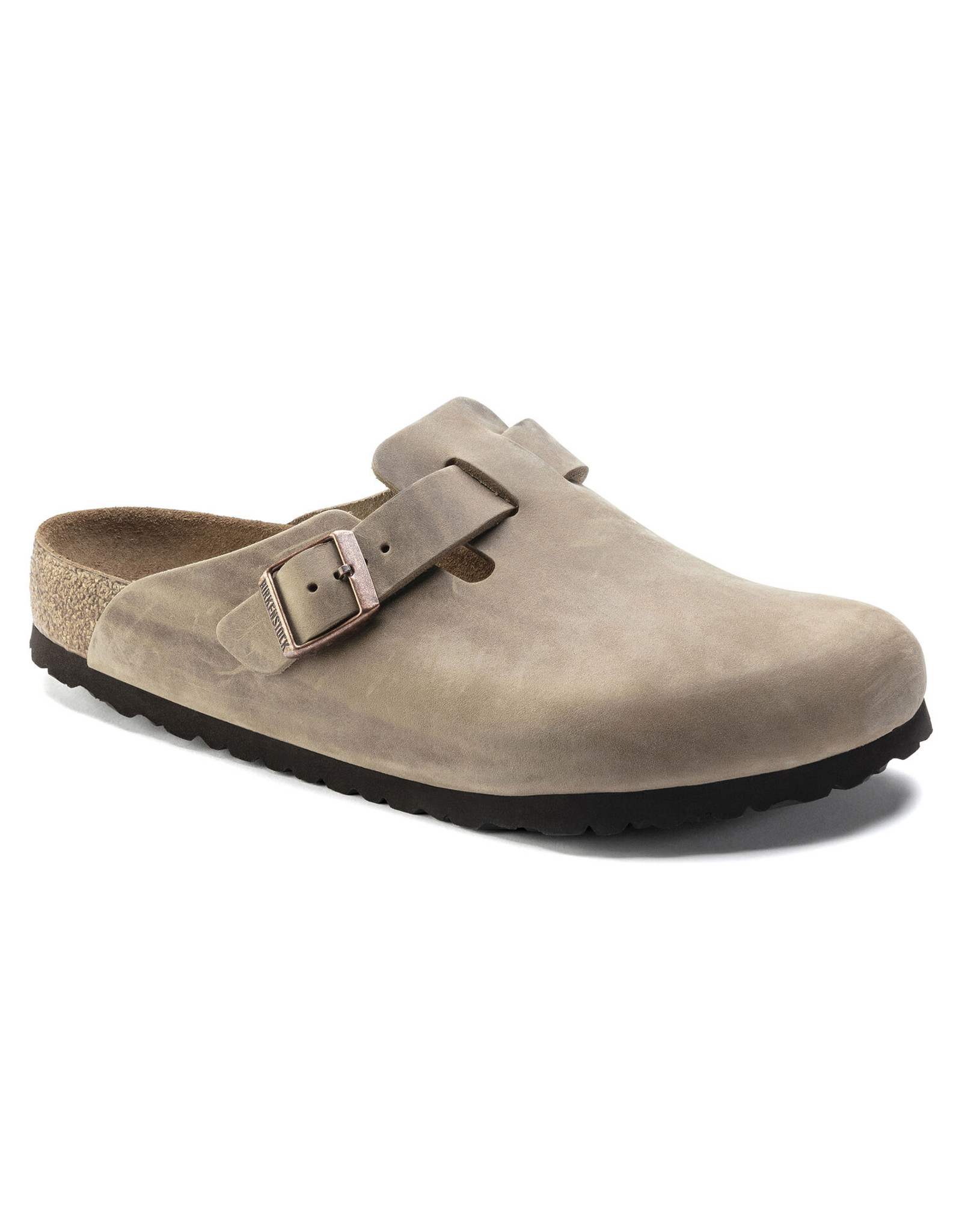 BIRKENSTOCK BOSTON SOFT FOOTBED OILED LEATHER-TOBACCO BROWN