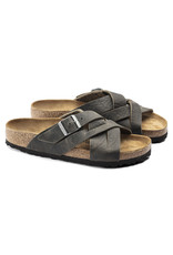BIRKENSTOCK LUGANO OILED LEATHER-FADED KHAKI