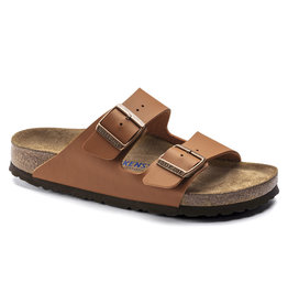 BIRKENSTOCK ARIZONA SOFT FOOTBED BIRKO-FLOR-GINGER BROWN