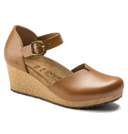 BIRKENSTOCK MARY LEATHER-GINGER BROWN