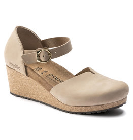 BIRKENSTOCK MARY NUBUCK LEATHER-SANDCASTLE
