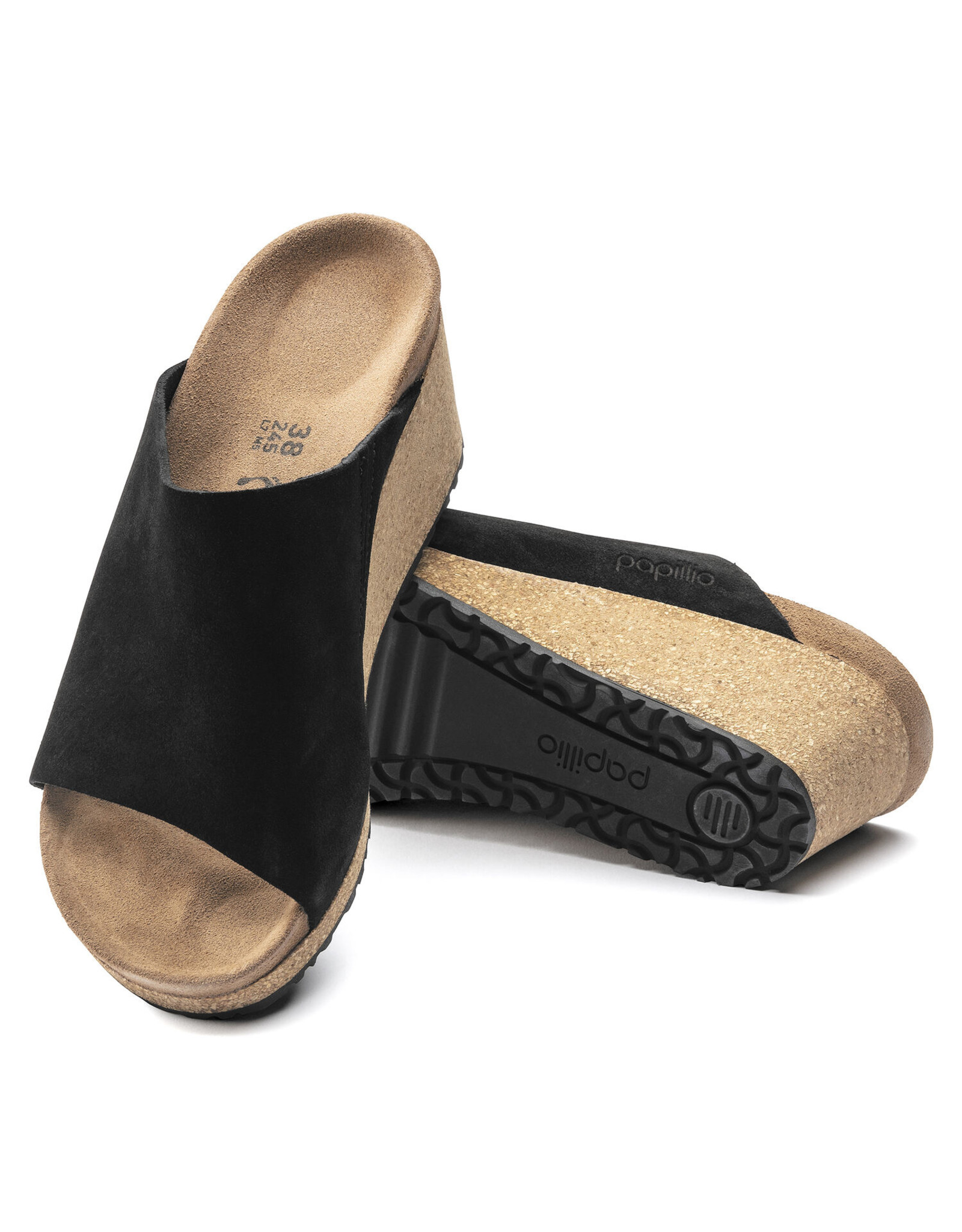 BIRKENSTOCK NAMICA SUEDE LEATHER-BLACK