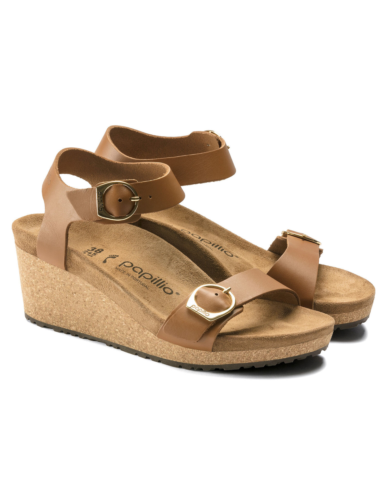 BIRKENSTOCK SOLEY LEATHER-GINGER BROWN