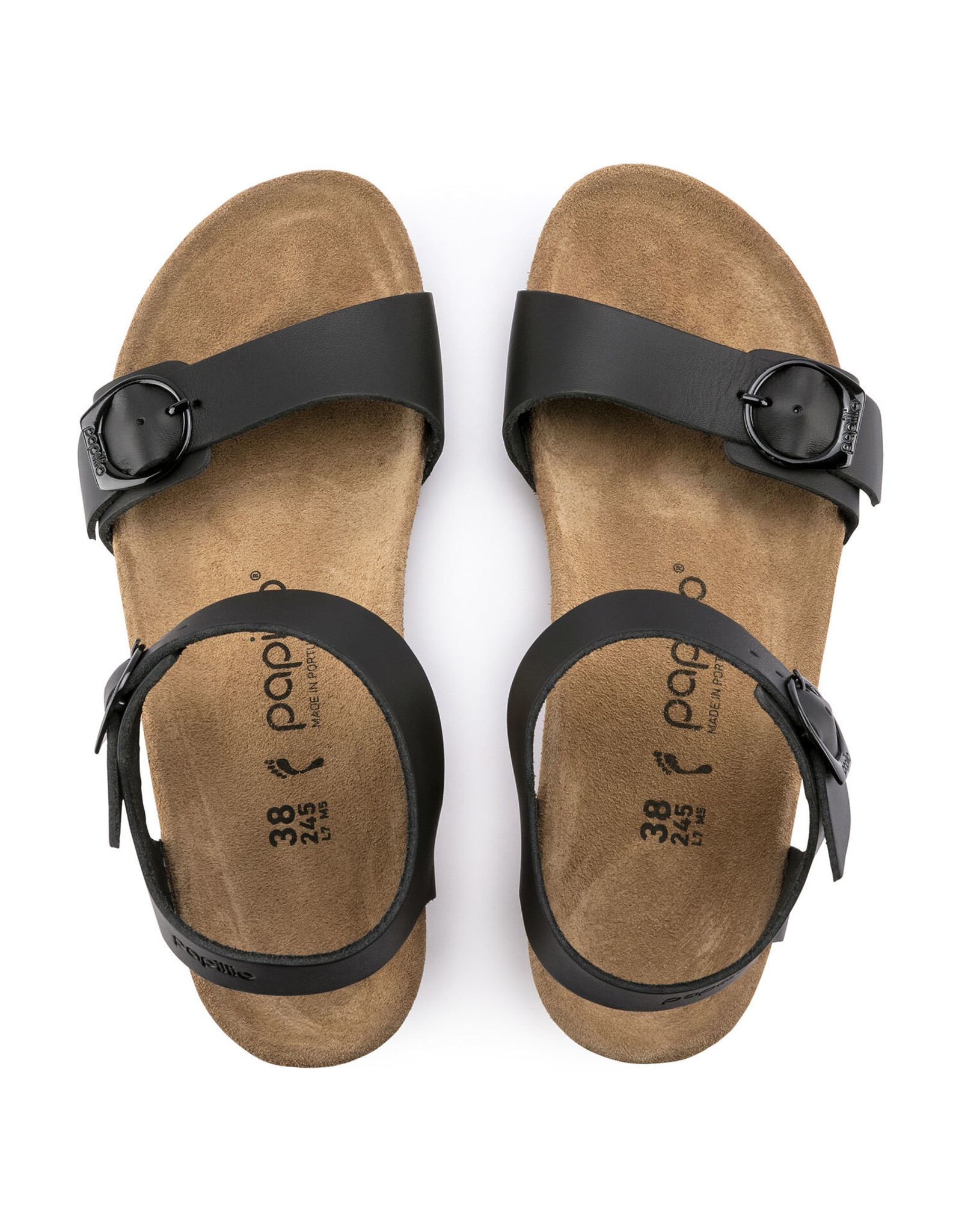BIRKENSTOCK SOLEY LEATHER-BLACK