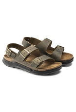 BIRKENSTOCK MILANO CROSS TOWN OILED LEATHER-FADED KHAKI